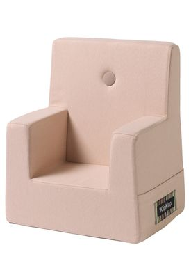 By KlipKlap - Stol - KK Kids Chair XL - Soft Rose 11395 B w rose buttons