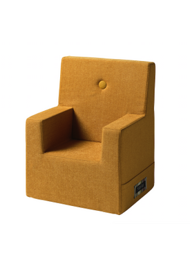 By KlipKlap - Chair - KK Kids Chair XL - Mustard w mustard buttons