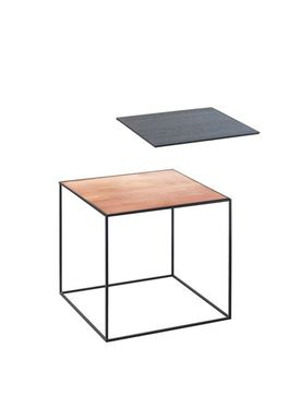 By Lassen - Bord - Twin 35 Table - Kobber/Sort med Sort Base