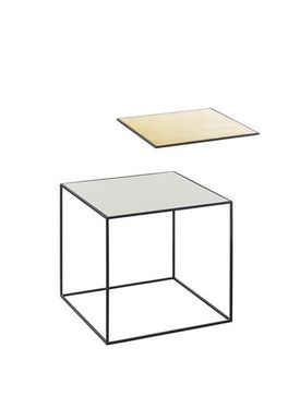 By Lassen - Bord - Twin 35 Table - Messing/Misty Green med Sort Base