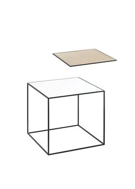 By Lassen - Bord - Twin 35 Table - Hvid/Eg med Sort Base