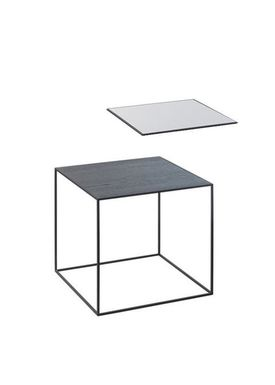 By Lassen - Bord - Twin 35 Table - Cool Grey/Sort med Sort Base
