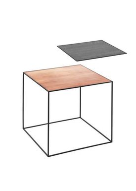 By Lassen - Bord - Twin 42 Table - Kobber/Sort Med Sort Base