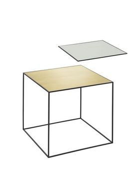By Lassen - Bord - Twin 42 Table - Messing/Misty Green Med Sort Base