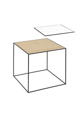 By Lassen - Bord - Twin 42 Table - Hvid/Eg Med Sort Base