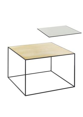 By Lassen - Bord - Twin 49 Table - Messing/Misty Green Med Sort Base