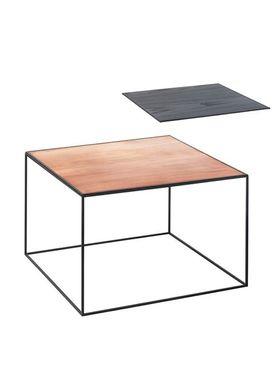 By Lassen - Bord - Twin 49 Table - Kobber/Sort Med Sort Base
