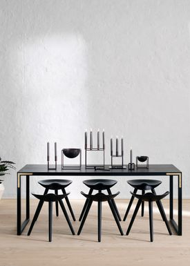 By Lassen - Pall - ML 42 Stool - Black Stained Beech