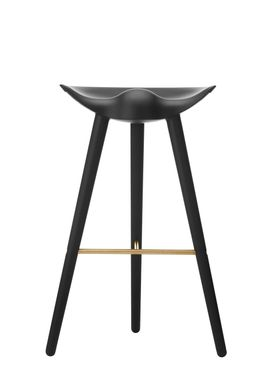 By Lassen - Chair - ML 42 Bar Stool - High - Black Stained Beech/Brass