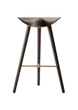 By Lassen - Chair - ML 42 Bar Stool - High - Brown Oiled Oak/Brass
