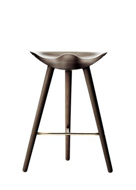 By Lassen - Chair - ML 42 Bar Stool - Low - Brown Oiled Oak/Brass