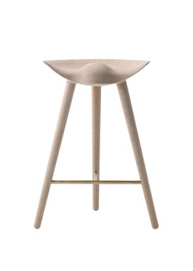 By Lassen - Chair - ML 42 Bar Stool - Low - Oak/Brass