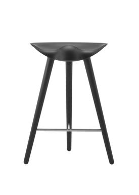 By Lassen - Chair - ML 42 Bar Stool - Low - Black Stained Beech/Steel