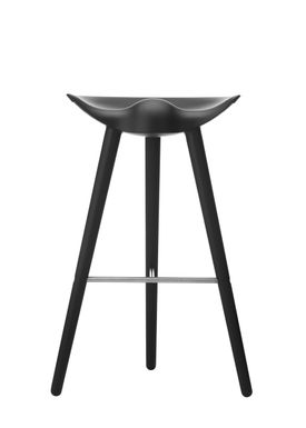 By Lassen - Chair - ML 42 Bar Stool - High - Black Stained Beech/Steel