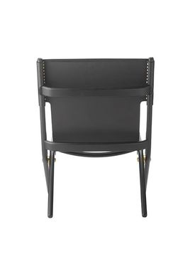 By Lassen - Stol - Saxe Chair - Black Stained Oak/Black Leather