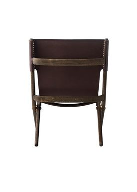 By Lassen - Stol - Saxe Chair - Brown Stained Oak/Brown Leather