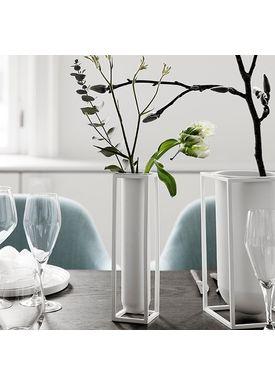 By Lassen - Vase - Kubus Vase - Flora White