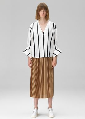 By Malene Birger - Bluse - Bobinoh - Black/White Stripe