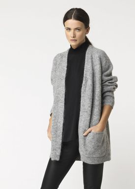 By Malene Birger - Cardigan - Belinta - Medium Grey Melange