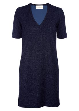 By Malene Birger - Dress - Gliitasi - Blue Velvet Glitter