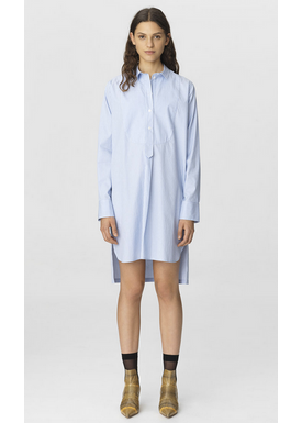By Malene Birger - Skjorte - Samfa Shirt Dress - Pastel Blue Stripes