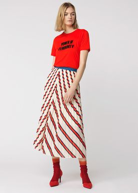 By Malene Birger - T-shirt - Ilma - Lipstick