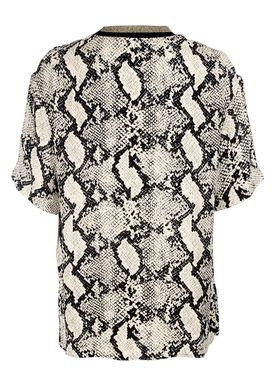 By Malene Birger - T-shirt - Opheelia - Black Snake