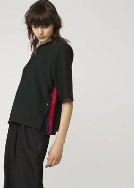 By Malene Birger - T-shirt - Pamelas - Scarab Green