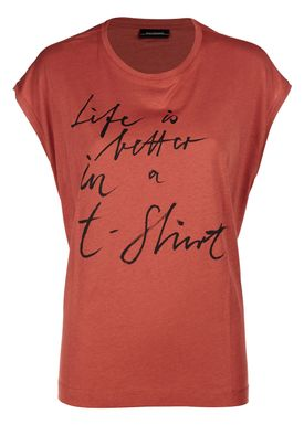 By Malene Birger - T-shirt - Vandun - Autumn Red