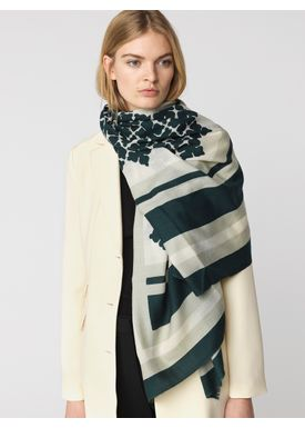 By Malene Birger - Scarf - Sinera - Green Sandalwood/Cream