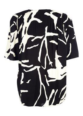 By Malene Birger - Top - Nanah - Soft White/Black Print