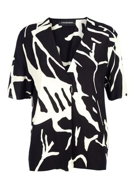 By Malene Birger - Top - Nanah - Creme/Sort Print