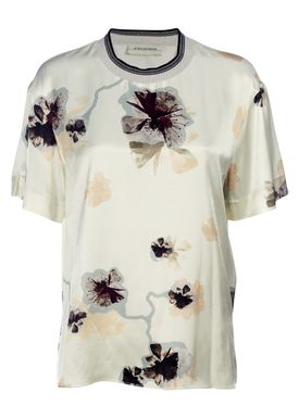 By Malene Birger - Top - Opheeliaa - Pale Yellow w. Flower