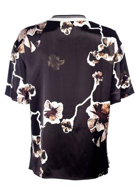 By Malene Birger - Top - Opheeliaa - Black w. Flower
