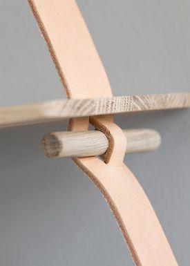 By Wirth - Hylde - Amager Shelf - Naturlig læder/træ