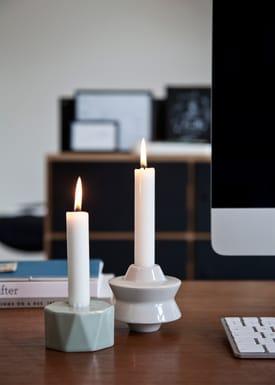 Kähler - Candlestick - Candelina Candleholder - White Star
