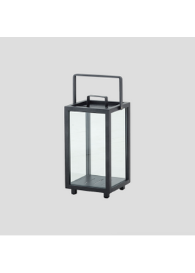 Cane-line - Lantern - Lighthouse Outdoor Lantern - Lava Grey Small
