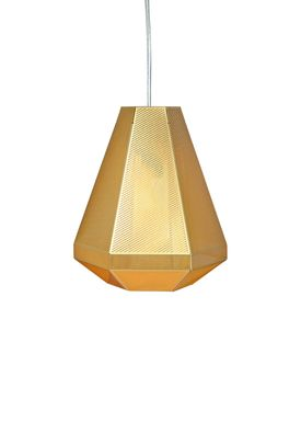 Tom Dixon - Lampe - Cell Tall Pendant - Messing