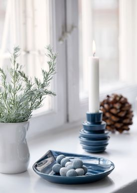 Kähler - Candlestick - Cono Lysestage - Blue