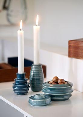 Kähler - Candlestick - Cono Lysestage - Petrol