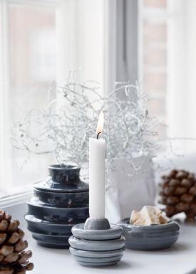 Kähler - Candlestick - Cono Lysestage - Light Grey