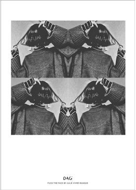 DAG - Poster - A little collection of life by Julie Vivré Masque - FUCK THE FACE