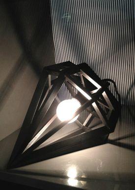 Tvåfota Designduo - Lampe - Döden Lampe - Large - Sort