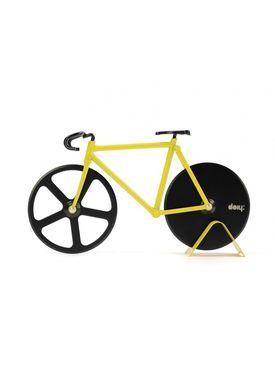 Doiy Design - Pizzahjul - Fixie - Pizza Cutter - Bumblebee