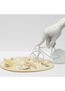 Doiy Design - Pizza Wheel - Fixie - Pizza Cutter - Pure White