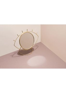 Doiy Design - Mirror - Cyclops Mirror - Table Gold