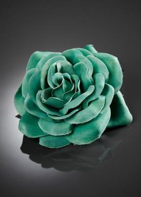Stor Rose Hårspænde Grøn Mint