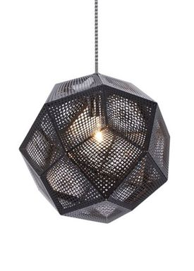 Tom Dixon - Lampe - Etch Pendant - Sort
