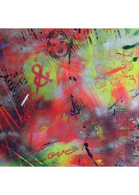 Falentin Art - Painting - Love & - Pink/yellow