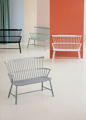 FDB Møbler / Furniture - Bench - J52D by Børge Mogensen - White